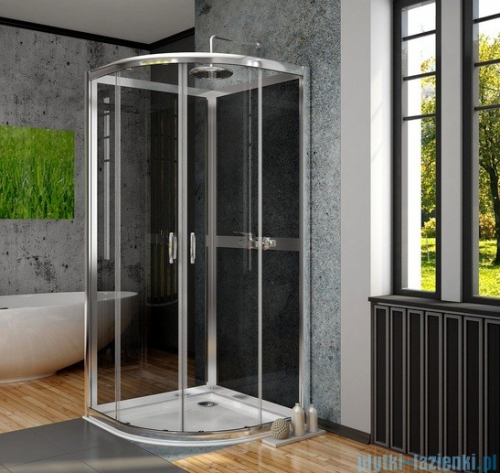 Radaway Premium Plus 2S Komplet ścianek tylnych 80x80 szkło grafit