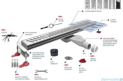 Wiper New Premium Zonda Odpływ liniowy z kołnierzem 80 cm poler