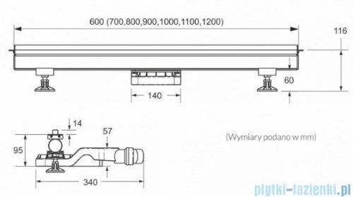 Schedpol Schedline odpływ liniowy z maskownicą thin line 120x1,2cm SOL-120012