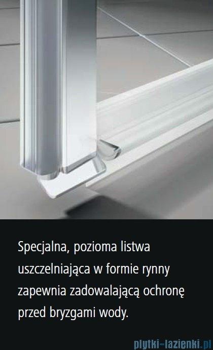 Kermi Osia Kabina prysznicowa wejście narożne, lewa, szkło przezroczyste 100x100 cm OSESL10020VPK/OSESR10020VPK