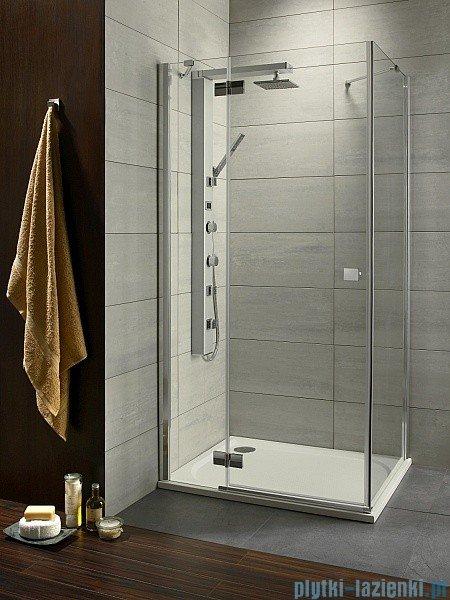 Radaway Kabina prysznicowa Almatea Kdj 80x90 lewa szkło grafitowe + brodzik Doros D + syfon