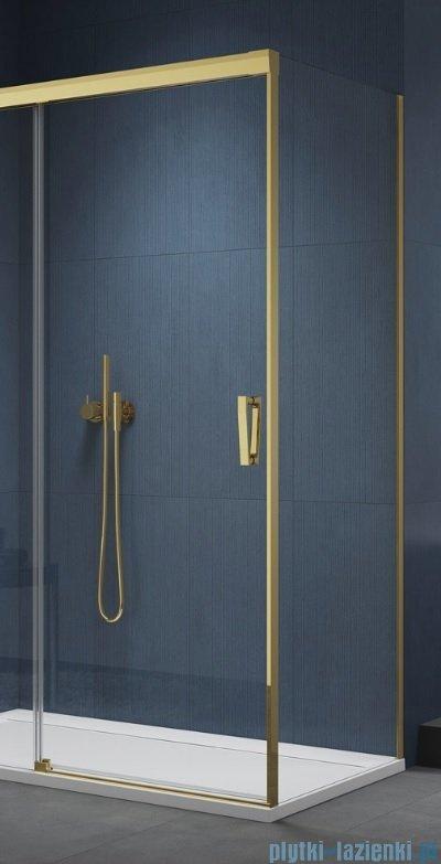 SanSwiss Cadura Gold Line ścianka boczna Cast 90x200cm profile złote CAST0901207