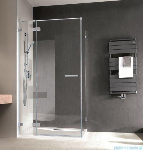 Radaway Euphoria KDJ Kabina prysznicowa 80x80 lewa szkło przejrzyste + brodzik Delos C + syfon