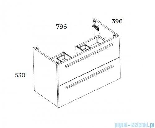 Elita Kwadro Plus szafka z umywalką 80x53x40cm biały połysk 166713/22052006N