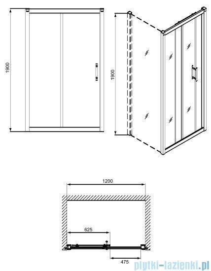 Koło Geo 6 drzwi rozsuwane 120 część 1/2 GDRS12222003A