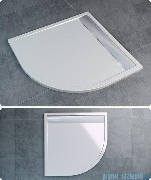 SanSwiss Ila Wir Brodzik półokrągły 80x80cm kolor biały/biały WIR550800404