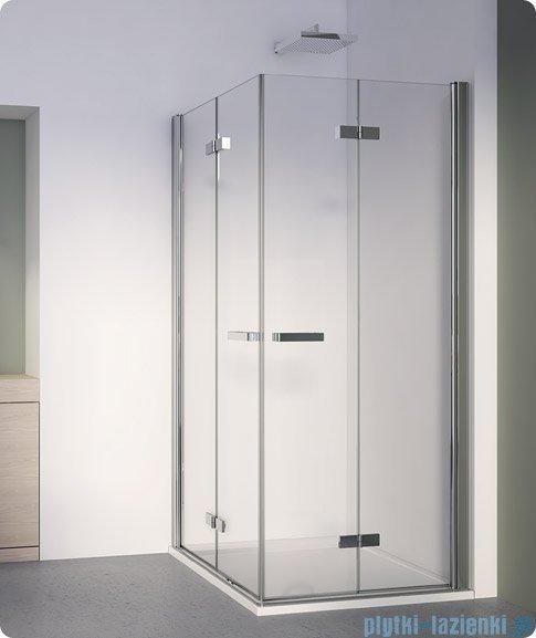 SanSwiss Swing Line F SLF2 Wejście narożne z drzwiami 70cm profil srebrny Lewe SLF2G07000107