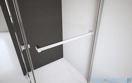 Radaway Almatea Kdj Kabina kwadratowa 80x80 Prawa szkło przejrzyste wieszak na ręcznik