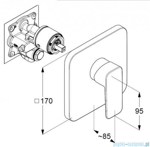 Kludi Pure&Style podtynkowa bateria natryskowa 406550575