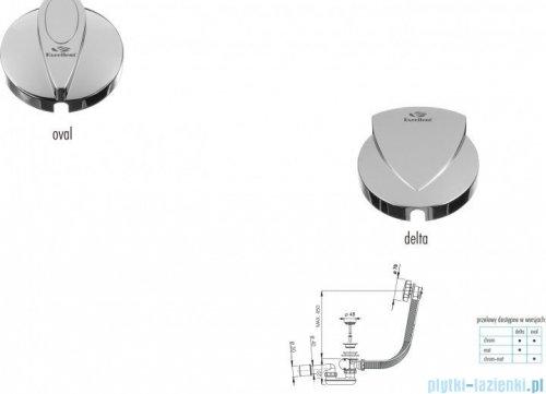 Excellent Delta syfon odpływowo-przelewowy automatyczny 57cm chrom AREX.1521CR