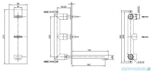 Kohlman Nexen Podtynkowa bateria umywalkowa chrom QW196U