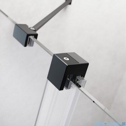 Radaway Furo Black PND II parawan nawannowy 160cm lewy szkło przejrzyste 10109838-54-01L/10112794-01-01