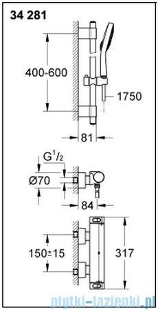 Grohe Grohtherm 2000 NEW bateria prysznicowa z termostatem DN 15 34281001