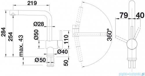 Blanco Linus-f  bateria wysokociśnieniowa kolor: chrom  514025