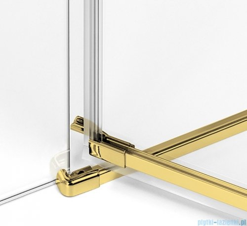 New Trendy Avexa Gold kabina kwadratowa 100x100x200 cm przejrzyste EXK-1786