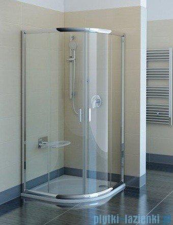 Ravak Kabina prysznicowa Blix BLCP4 półokrągła 80x80 profile białe transparent Anticalc 3B240100Z1