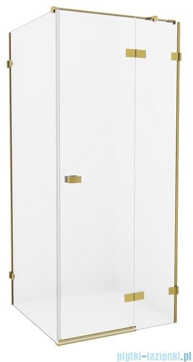 New Trendy Avexa Gold kabina prostokątna 100x90x200 cm przejrzyste prawa EXK-1757