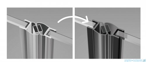 Radaway Furo Black KDD kabina 110x90cm szkło przejrzyste 10105110-54-01L/10105090-54-01R