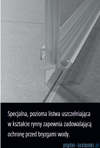 Kermi Nica drzwi przesuwne 2-częściowe z polem stałym lewe 140 cm NIL2L14020VPK