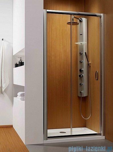 Radaway Premium Plus Dwj drzwi wnękowe 110cm szkło fabric