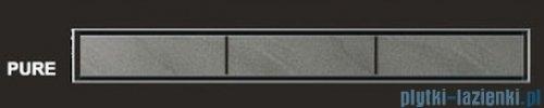 Wiper Odpływ liniowy Premium Pure 60cm z kołnierzem szlif PU600SPS100