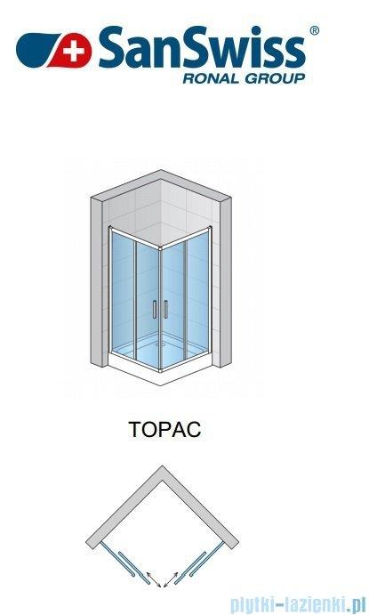 SanSwiss Top-Line TOPAC Wejście narożne 120cm profil połysk Lewe TOPG12005007