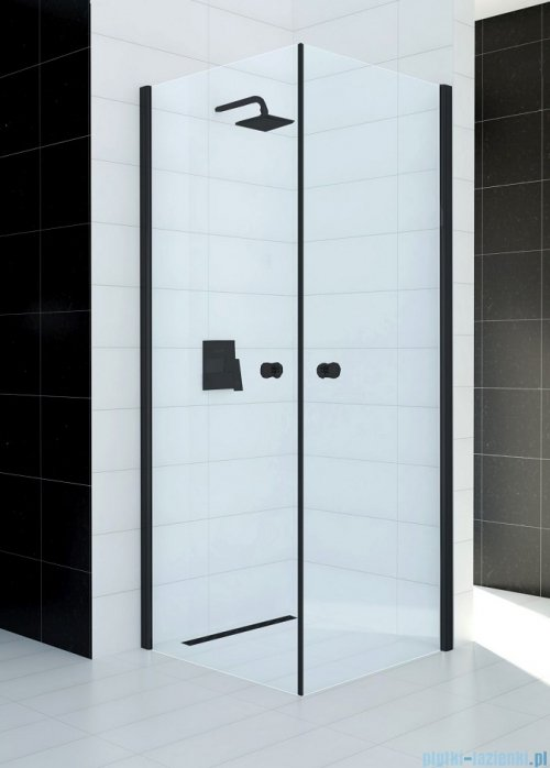 Sea Horse Fresh Line Black kabina natryskowa narożna kwadratowa 80x80cm przejrzyste BKP122T08K