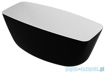 Omnires Ferrara 156 wanna wolnostojąca 156x70cm biało-czarny połysk