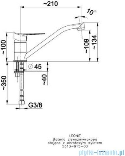 KFA Leonit bateria zlewozmywakowa, kolor chrom 5313-915-00