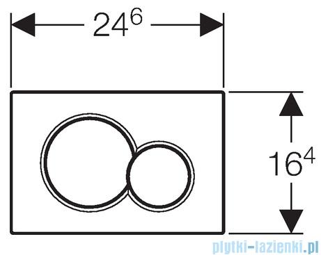 Geberit Sigma01 przycisk spłukujący czarny 115.770.DW.5