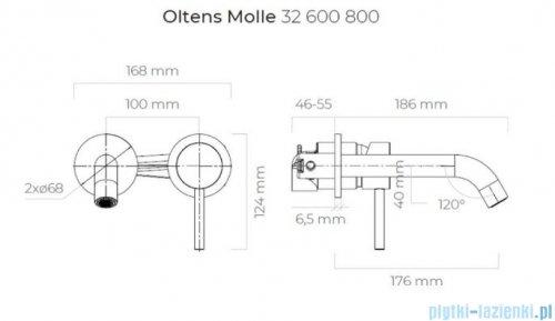 Oltens Molle bateria umywalkowa podtynkowa złota 32600800