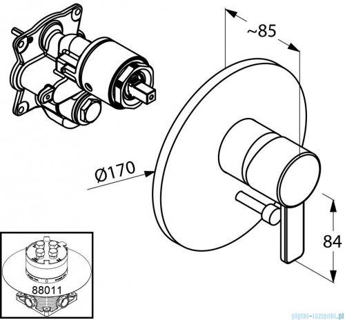 Kludi Zenta Podtynkowa bateria wannowo-natryskowa biały-chrom 386509175