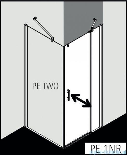 Kermi Pega drzwi wahadłowe 1-skrzydłowe z polem stałym 80 cm prawe przejrzyste PE1NR08020VPK