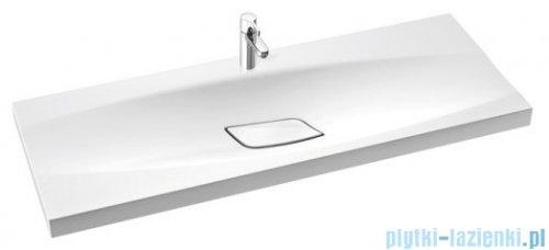 Marmorin Noel 1200 umywalka wpuszczana w blat 120x45 bez przelewu i bez otworu na baterie biała 582120020010