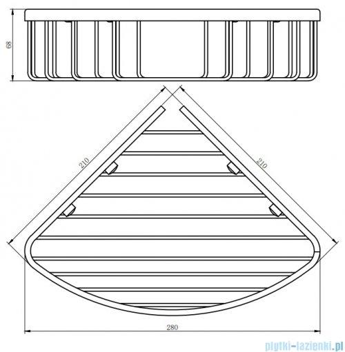 Omnires Uni Narożny koszyk prysznicowy mocowany do ściany chrom UN3503CR
