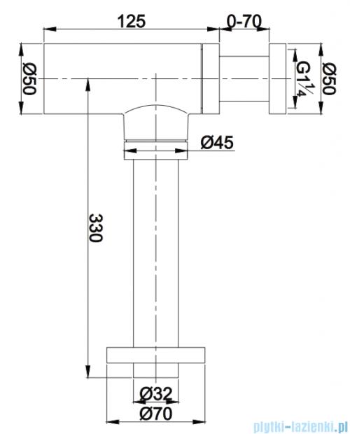 Omnires syfon umywalkowy ozdobny złoty A186GL