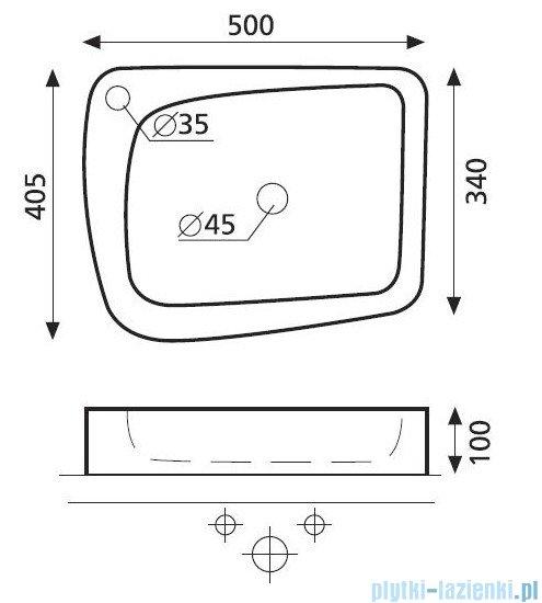 Bathco umywalka nablatowa Aragon 50x40,5 cm 4001