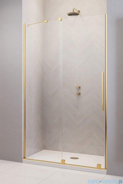 Radaway Furo Gold DWJ drzwi prysznicowe 100cm lewe szkło przejrzyste 10107522-09-01L/10110480-01-01