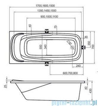 Ravak Wanna prostokątna Vanda II 170x70 CP21000000