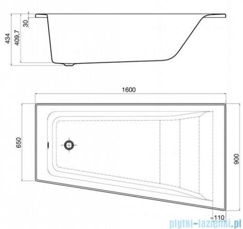 Roca Easy wanna 160x90cm prawa z hydromasażem Smart Air Plus A24T291000