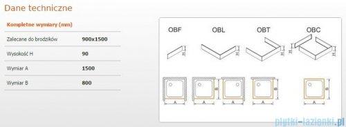 Sanplast Obudowa brodzika OBL 90x150x9 cm 625-400-1580-01-000