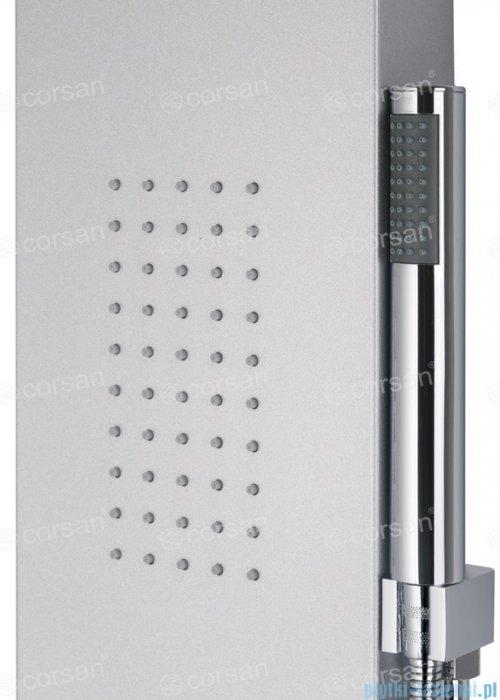 Corsan Alto panel prysznicowy z mieszaczem oraz oświetleniem LED Srebrny A-017MLEDSREBRNY
