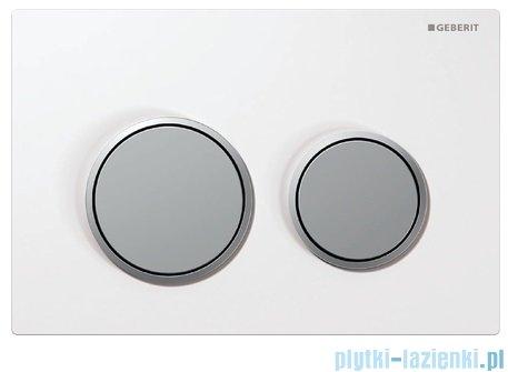 Geberit Omega20 przycisk spłukujący biały/chrom mat/chrom mat 115.085.KL.1