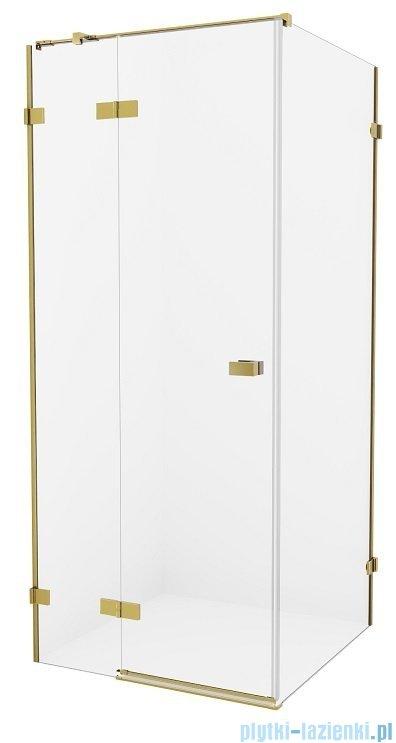 New Trendy Avexa Gold kabina prostokątna 90x110x200 cm przejrzyste lewa EXK-1748