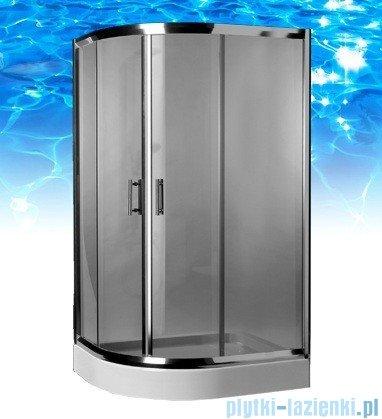 Omnires Health kabina 2-skrzydłowa prawa 80x100x185cm szkło grafitowe JK2808/10PGrafit