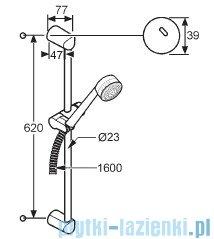 Kludi Zenta Zestaw natryskowy 2S dł.60cm chrom 6073005-00