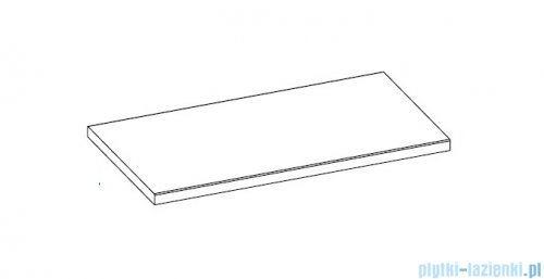 Elita blat marmurowy 72x50cm stone mat 168392