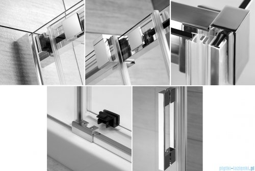 Radaway Espera DWJ Mirror Drzwi wnękowe przesuwne 140 lewe szkło przejrzyste 380695-01L/380214-71L