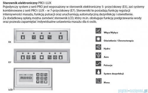 Riho Lugo wanna prostokątna 190x80 z hydromasażem PRO Hydro 6+4+2 BT04P6