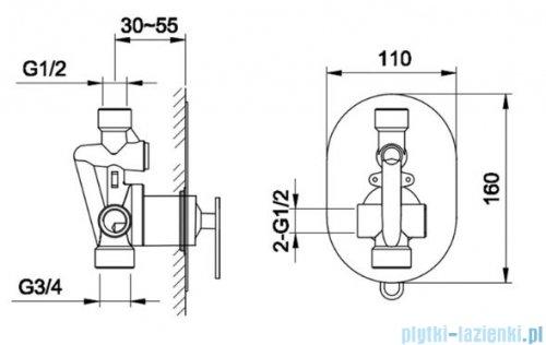 Kohlman Boxine zestaw prysznicowy chrom QW220BR40